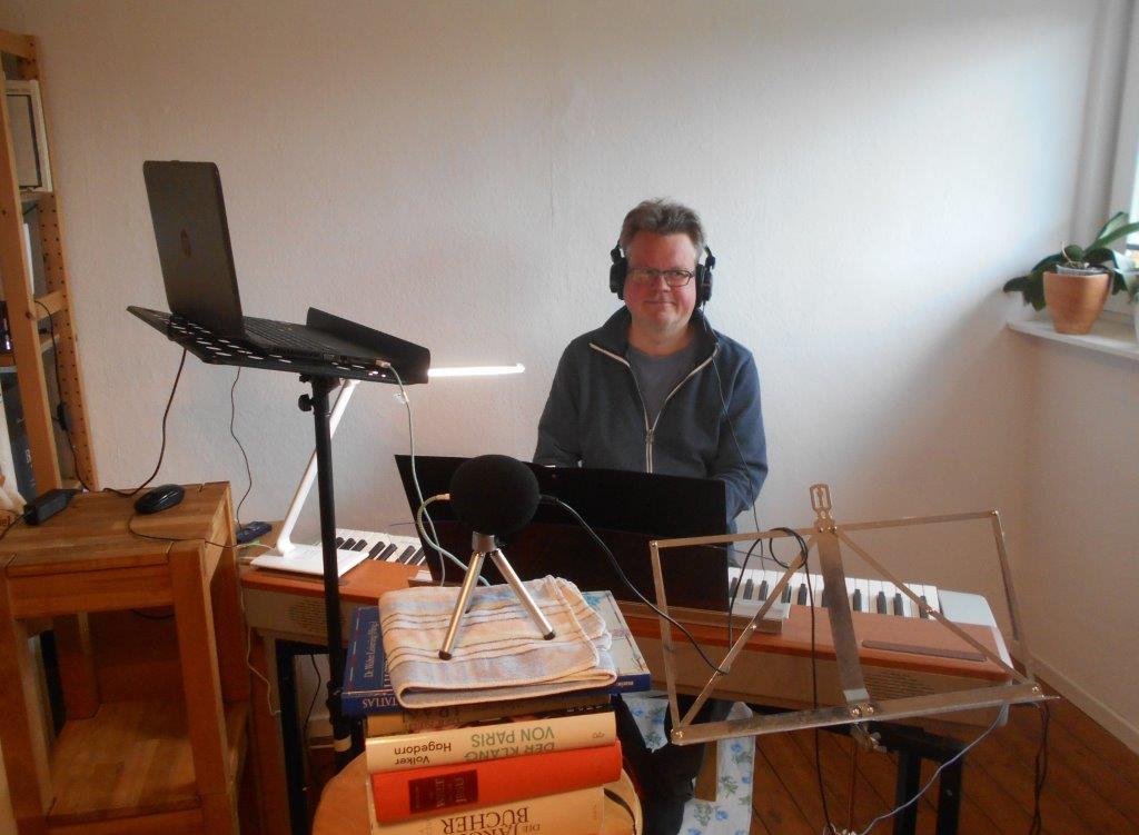 45-tes Jubiläum Oratorienchor Burgwedel Chorleiter im Homeoffice
