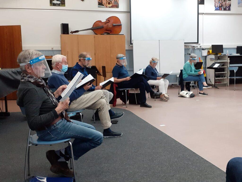Neustart Chor-Probe im Musikraum des Gymnasiums Burgwedel
